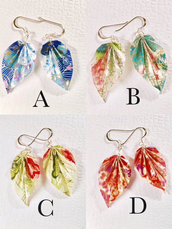DIY: Origami Earrings Leaves (Origami Jewelry) Instructions - YouTube | 800x600